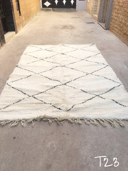 Beni Ourain Carpet - 300x205cm - Mounia - Natural Wool - T23