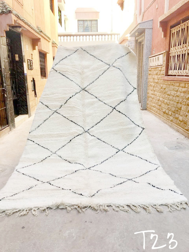 Beni Ourain Carpet - 300x205cm - Mounia - Natural Wool - T23 - Carpets - THE PEOPLE OF SAND