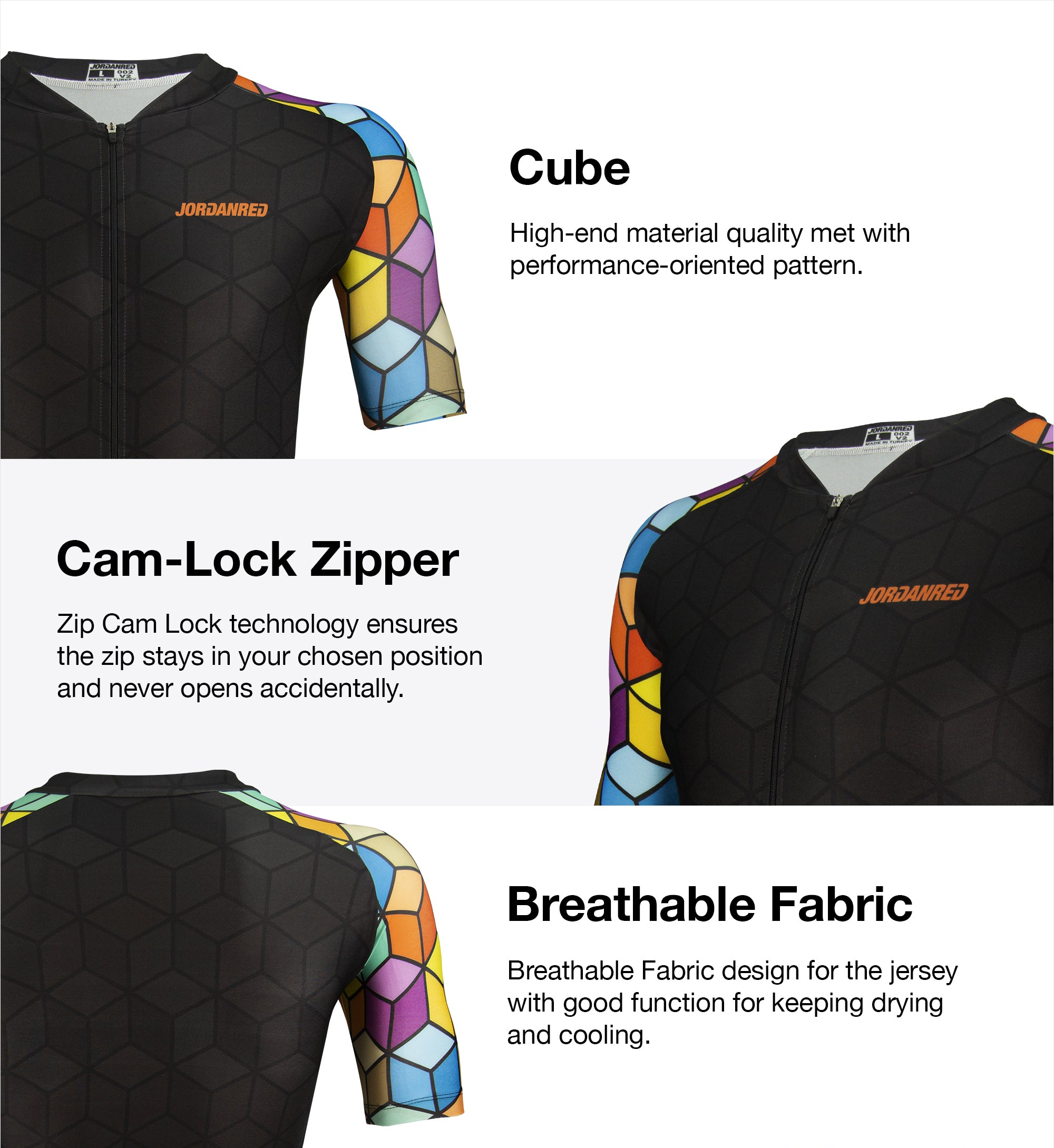 Features - Cube Unisex Cycling Jersey 1