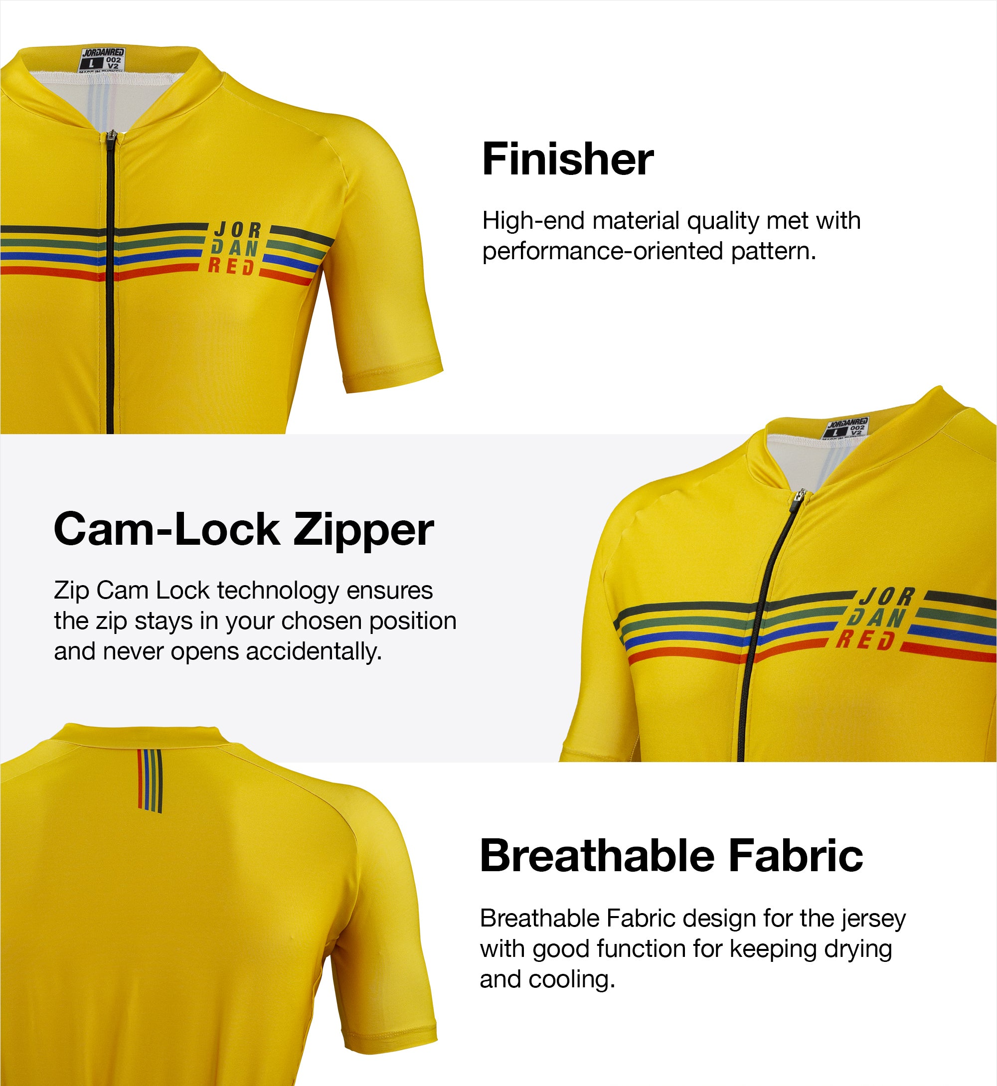 Features - Finisher Unisex Cycling Jersey 1