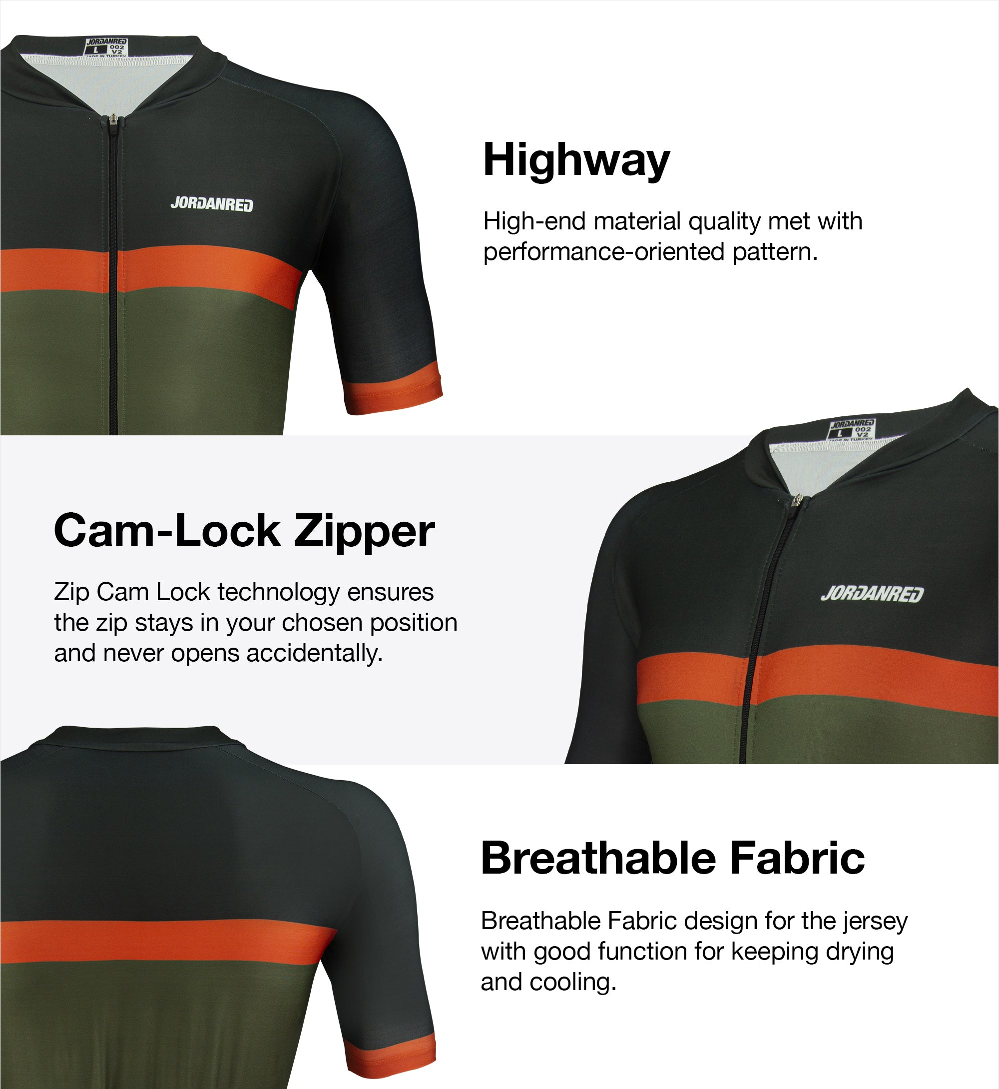 Features - Highway Unisex Cycling Jersey 1