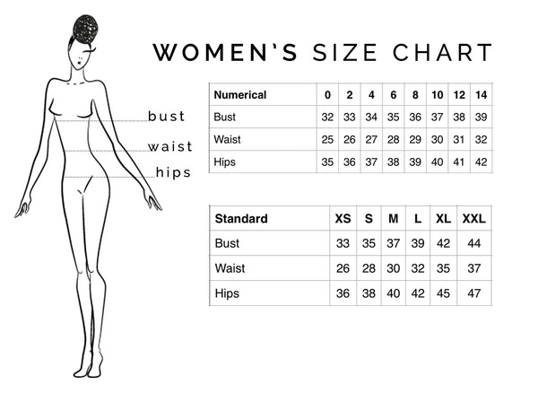 Chest/Bust Waist Hips Torso Following are the correct ways to measure your bust, waist, hips and torso. Then consult our new branded size charts (which may include regular, D-cup, DD-cup, long torso and/or women's sizes) for the styles you're interested in.