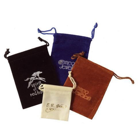 Printed Velveteen Pouches