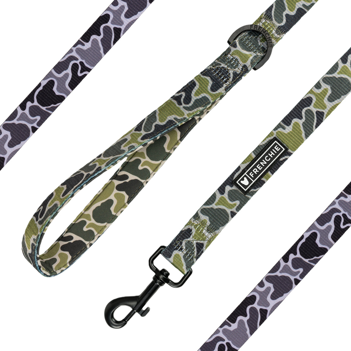 Frenchie Comfort Leash - Green Frenchie Camo - Frenchie Bulldog - Shop Harnesses for French Bulldogs - Shop French Bulldog Harness - Harnesses for Pugs