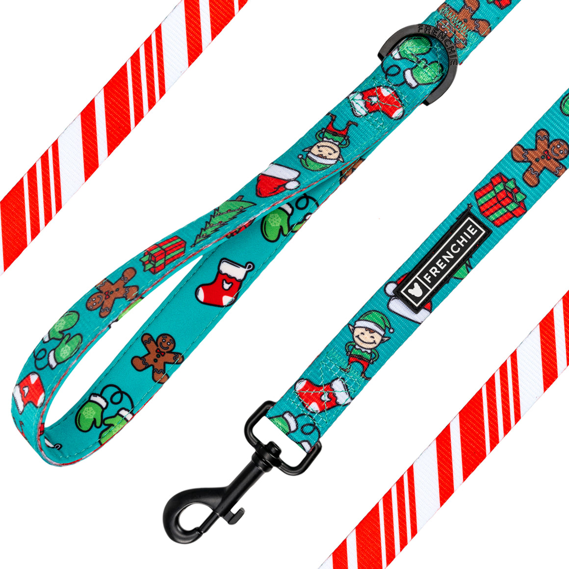 Frenchie Comfort Leash - Santa Paws - Frenchie Bulldog - Shop Harnesses for French Bulldogs - Shop French Bulldog Harness - Harnesses for Pugs