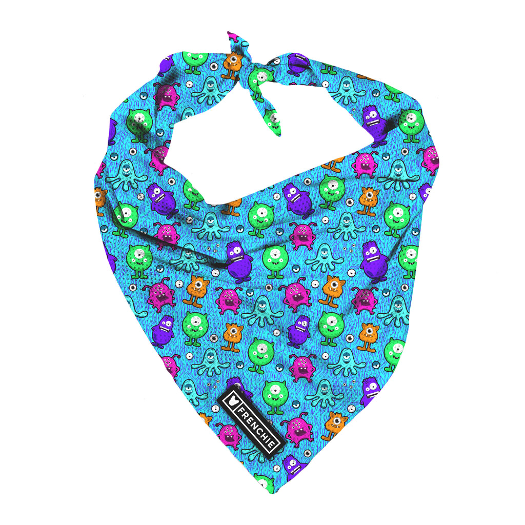 Frenchie Cooling Bandana- Monster Madness - Frenchie Bulldog - Shop Harnesses for French Bulldogs - Shop French Bulldog Harness - Harnesses for Pugs