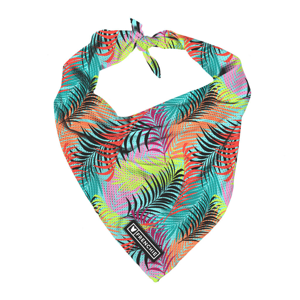 Frenchie Cooling Bandana - Neon Palms