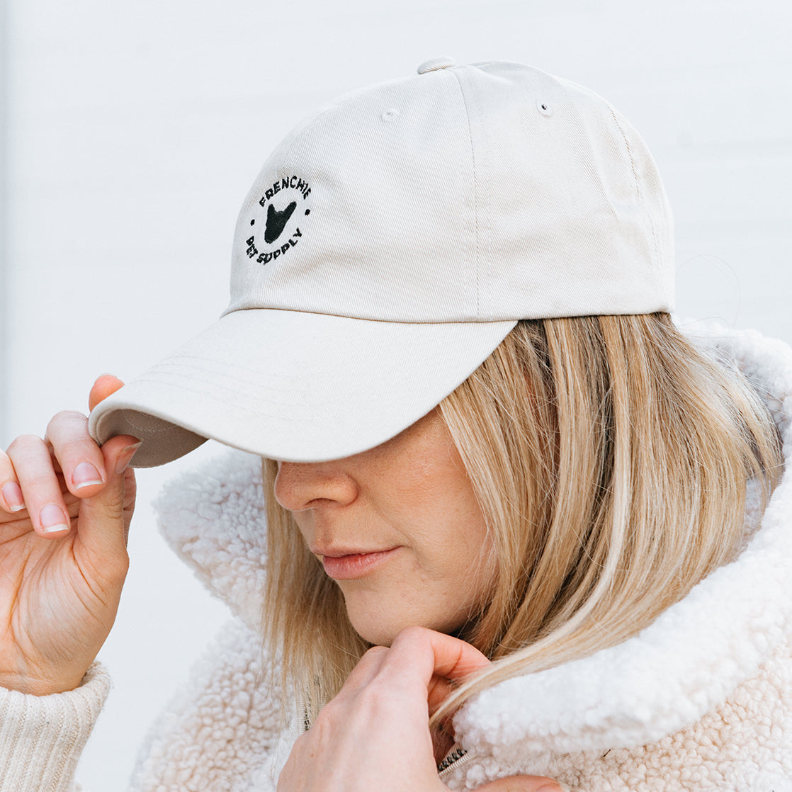 Khaki Frenchie Dad Cap