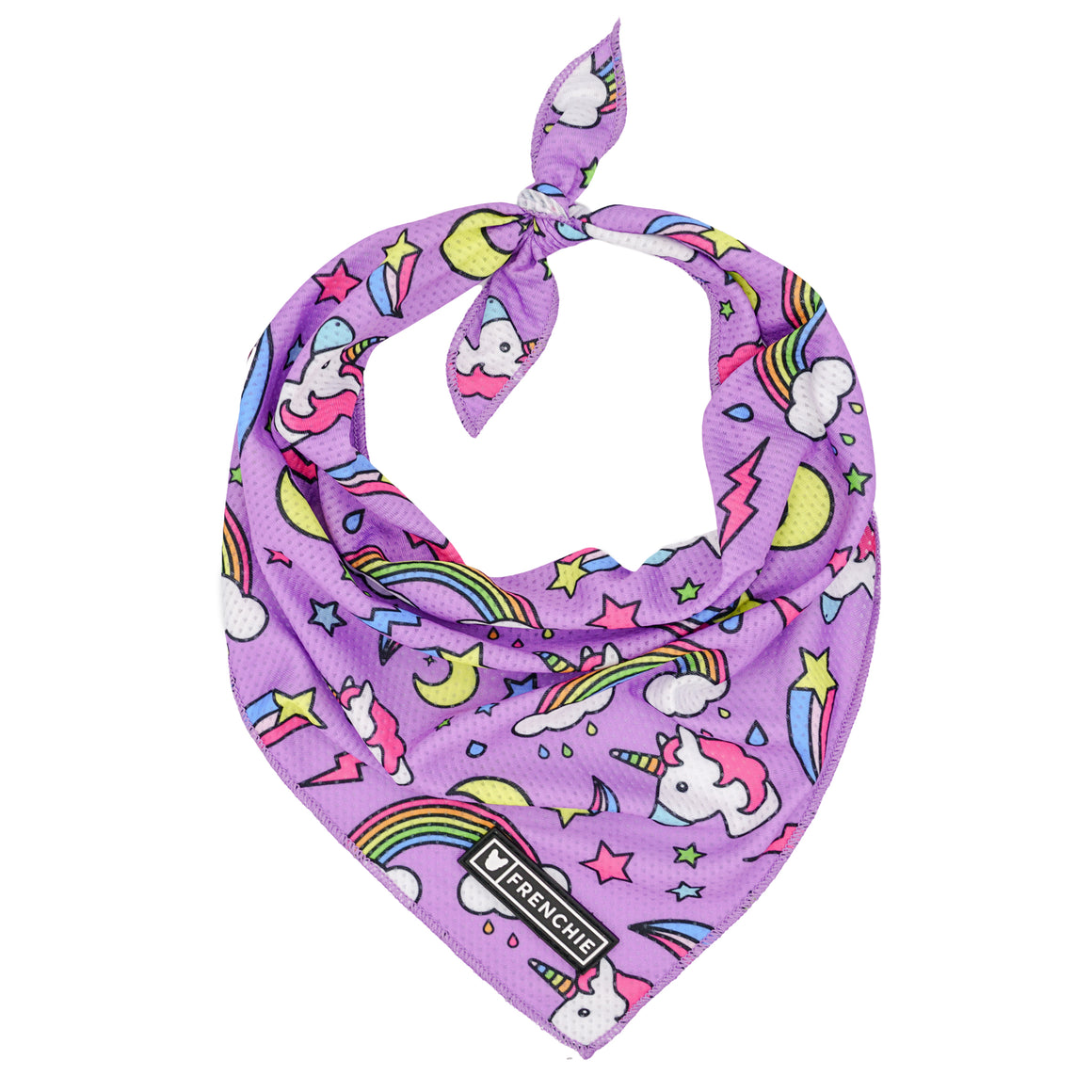 Frenchie Cooling Bandana - Purple Magical Unicorn - Frenchie Bulldog - Shop Harnesses for French Bulldogs - Shop French Bulldog Harness - Harnesses for Pugs