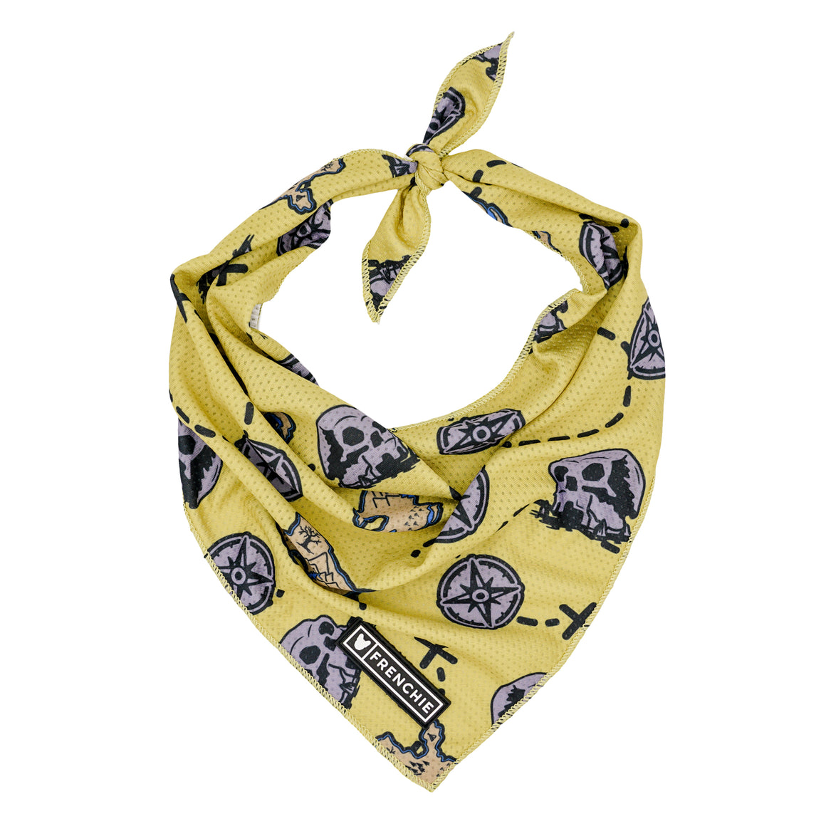 Frenchie Cooling Bandana - Pirate's Cove - Frenchie Bulldog - Shop Harnesses for French Bulldogs - Shop French Bulldog Harness - Harnesses for Pugs