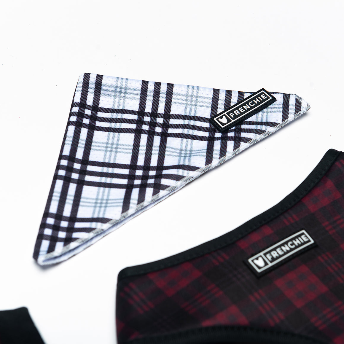 Frenchie Cooling Bandana - White Buffalo Plaid