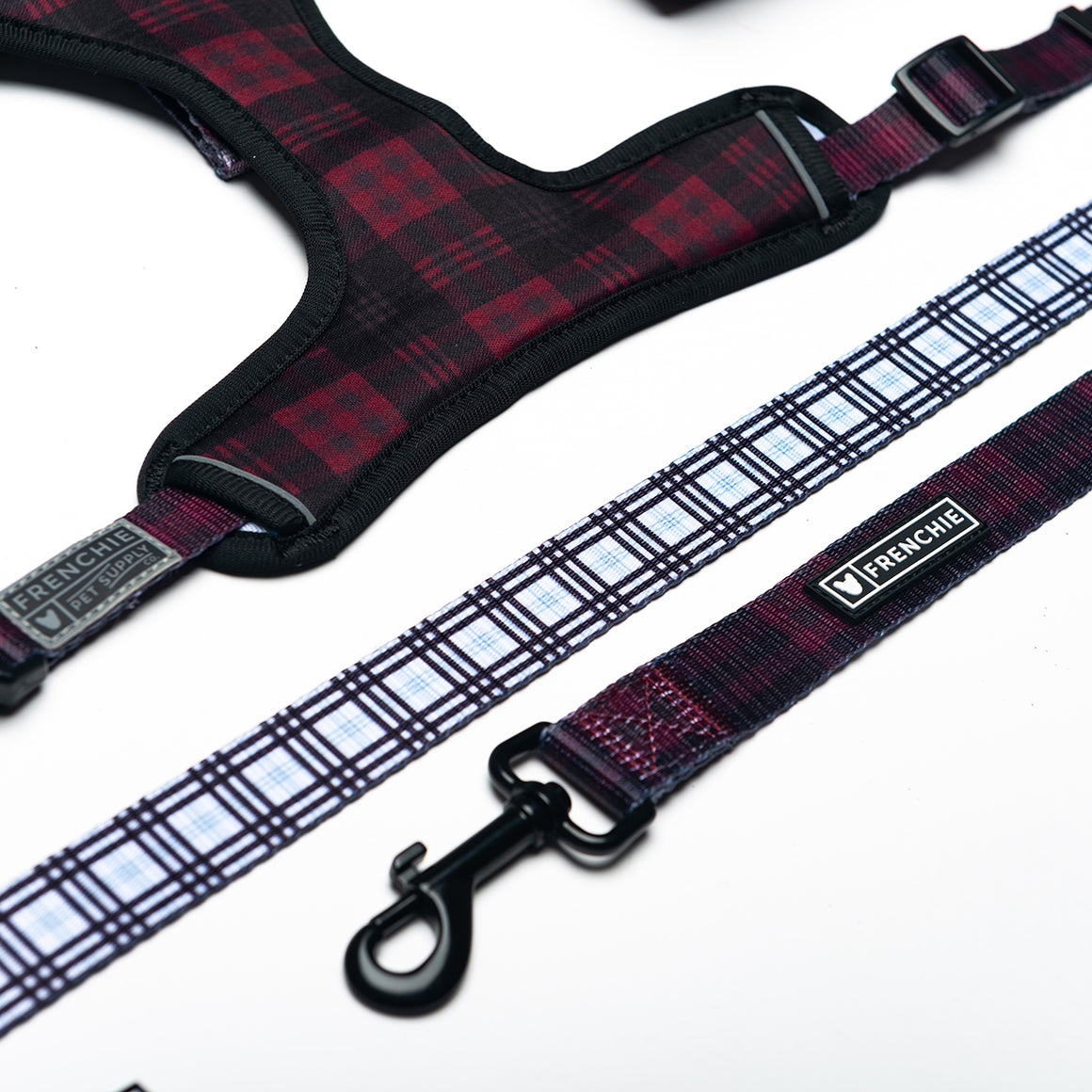 Frenchie Comfort Leash - Buffalo Plaid