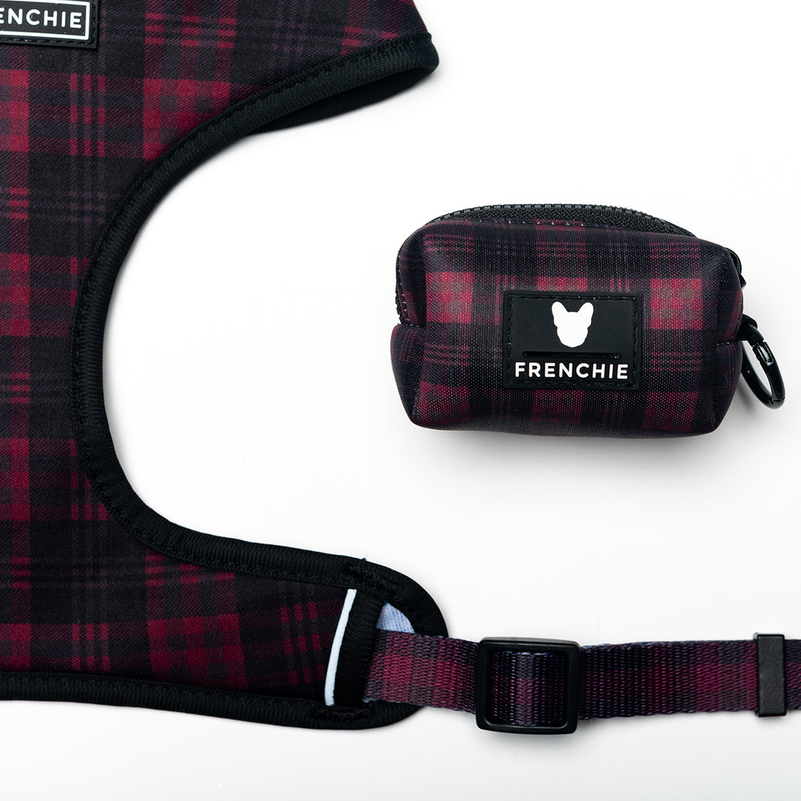 Frenchie Poo Bag Holder- Buffalo Plaid