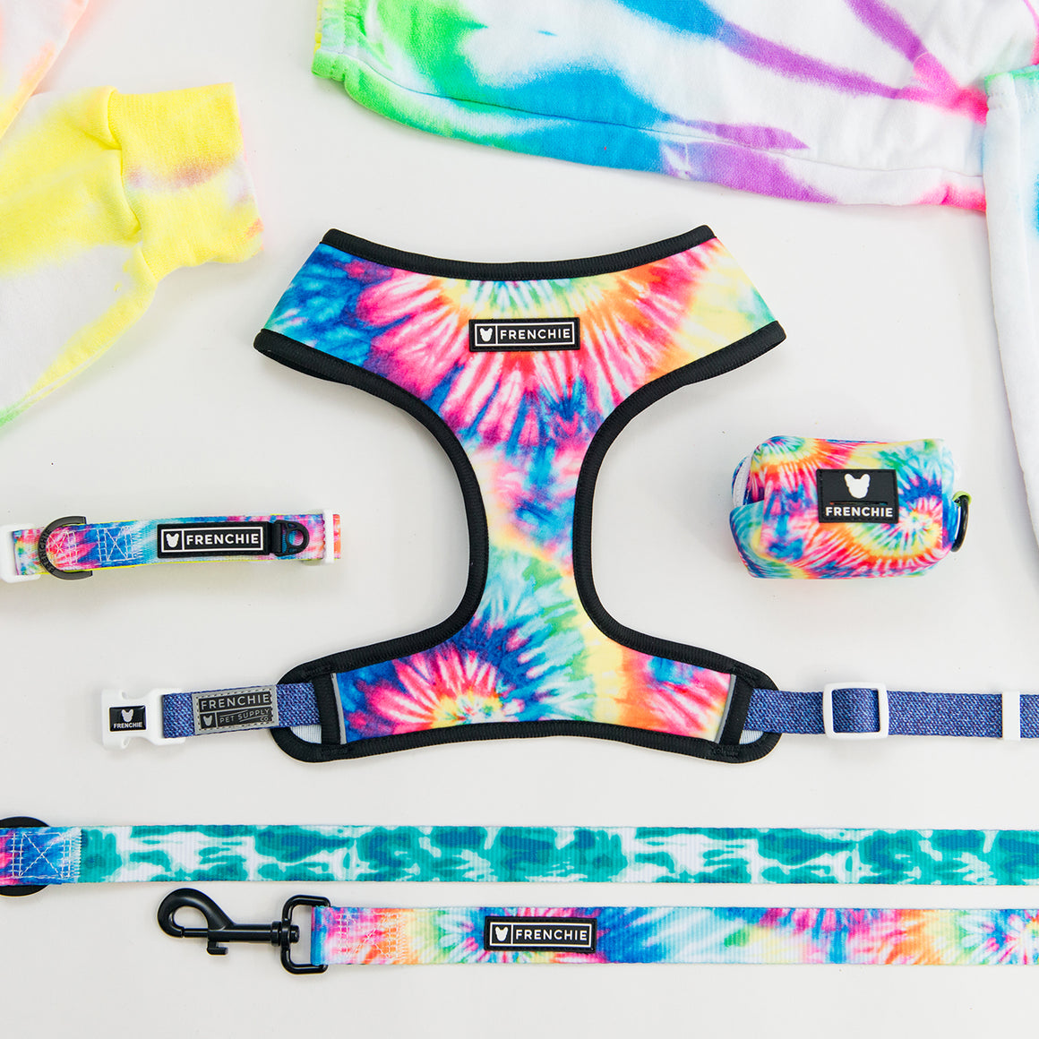 Frenchie Duo Reversible Harness - Brooks Tie Dye