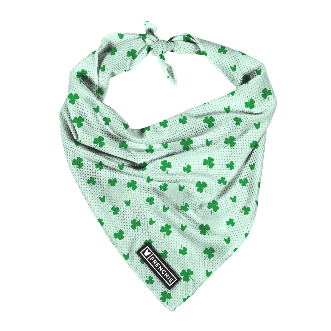 Frenchie Cooling Bandana- Clover - Frenchie Bulldog - Shop Harnesses for French Bulldogs - Shop French Bulldog Harness - Harnesses for Pugs