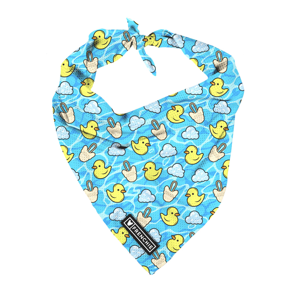 Frenchie Cooling Bandana- Ducky - Frenchie Bulldog - Shop Harnesses for French Bulldogs - Shop French Bulldog Harness - Harnesses for Pugs