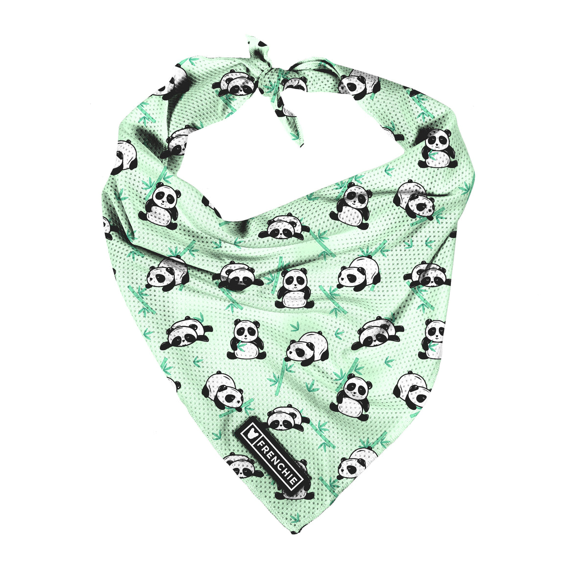 Frenchie Cooling Bandana- Green Panda - Frenchie Bulldog - Shop Harnesses for French Bulldogs - Shop French Bulldog Harness - Harnesses for Pugs