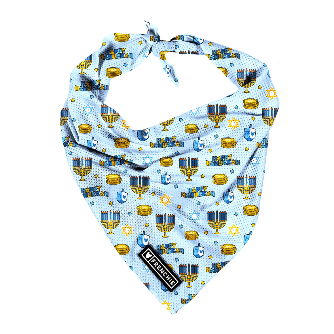 Frenchie Cooling Bandana- Hanukkah - Frenchie Bulldog - Shop Harnesses for French Bulldogs - Shop French Bulldog Harness - Harnesses for Pugs