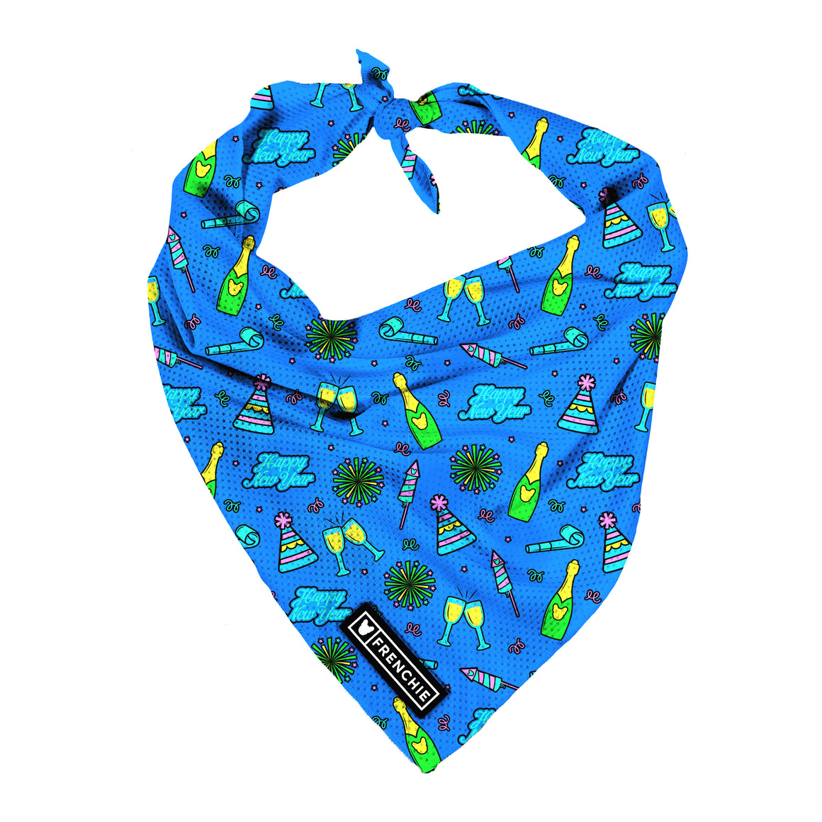 Frenchie Cooling Bandana- New Year, New Me - Frenchie Bulldog - Shop Harnesses for French Bulldogs - Shop French Bulldog Harness - Harnesses for Pugs