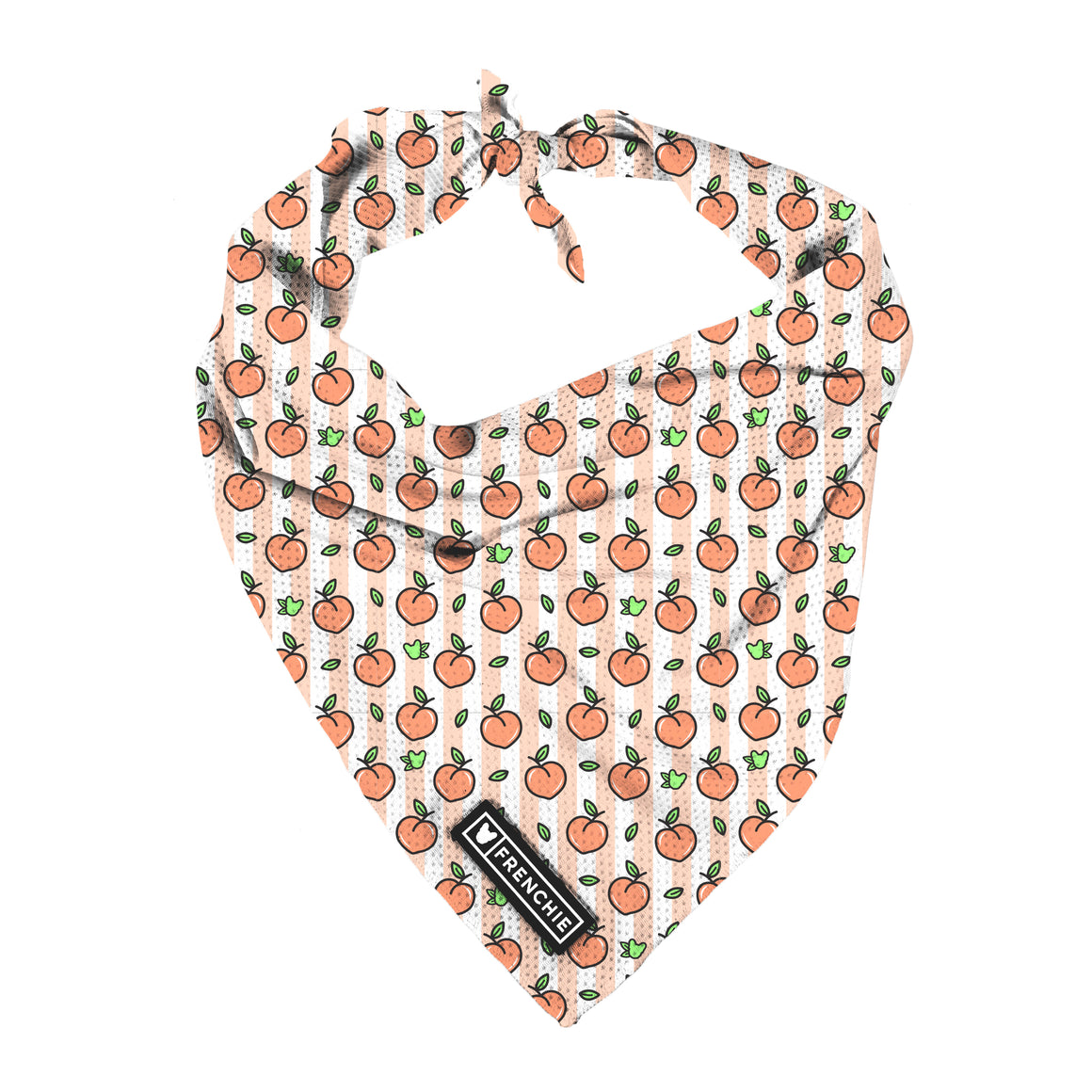Frenchie Cooling Bandana- Just Peachy - Frenchie Bulldog - Shop Harnesses for French Bulldogs - Shop French Bulldog Harness - Harnesses for Pugs