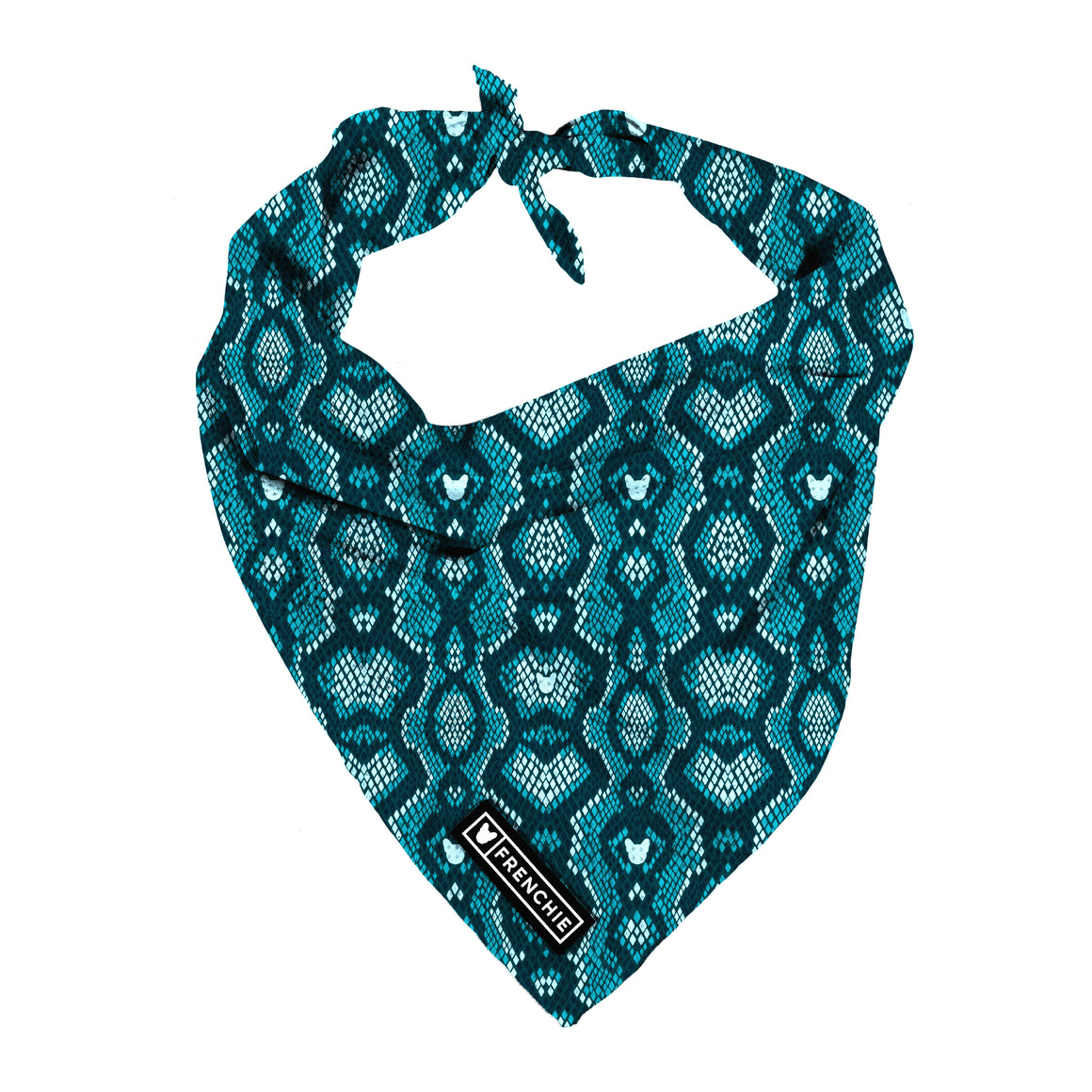 Frenchie Cooling Bandana- Snake Skin - Frenchie Bulldog - Shop Harnesses for French Bulldogs - Shop French Bulldog Harness - Harnesses for Pugs