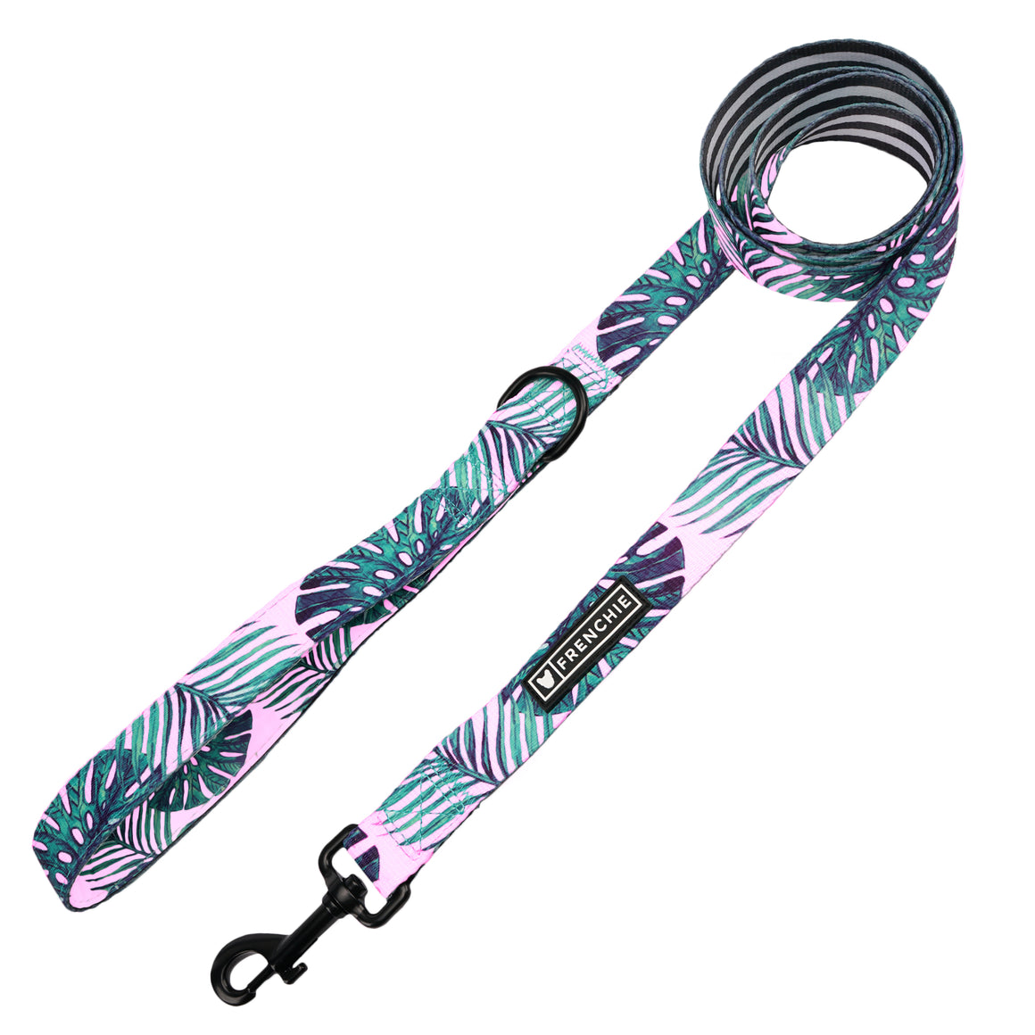 Frenchie Comfort Leash - Pink Beverly Palms - Frenchie Bulldog - Shop Harnesses for French Bulldogs - Shop French Bulldog Harness - Harnesses for Pugs