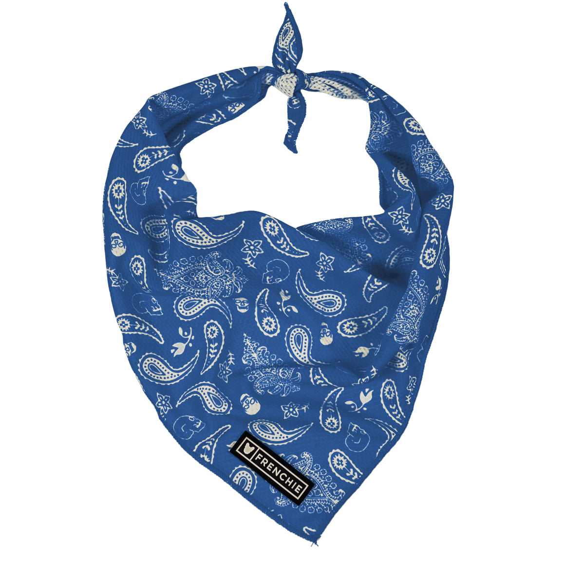 Frenchie Cooling Bandana- Blue Ruff Rider
