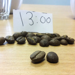Beans roasted at 13 minutes | Hand Roasted Coffee | Two Spots Coffee