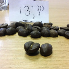 Beans roasted at 13.30 minutes | Hand Roasted Coffee | Two Spots Coffee