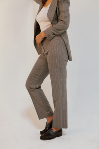 Zoe Vance y project pin striped blazer pin striped pant