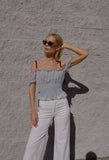 Ibiza Top Dusty Blue