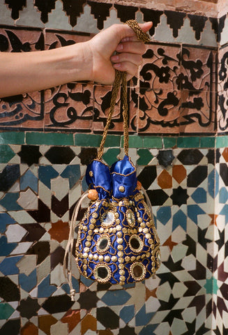 Moroccan Evening Bag Blue