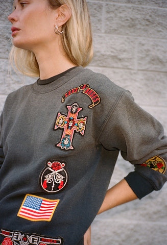 MadeWorn Guns N Roses Patch Sweatshirt / Shop Super Street - 1