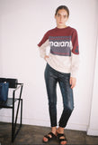 Gallian Logo Sweatshirt Burgundy