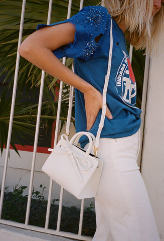 Mini Mini Sun Bag White/Blu