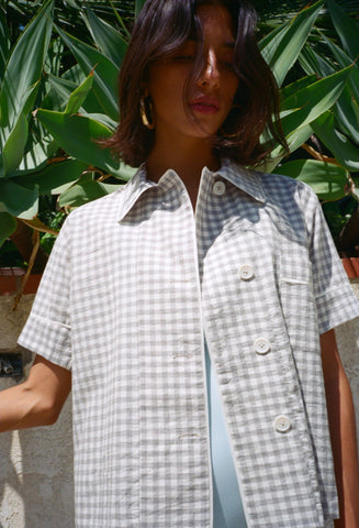 Shelby Gingham Top