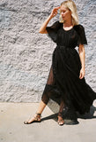 Sabina Long Dress Black