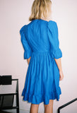 Button-Up Prairie Dress Cobalt Blue