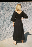 Villandry V-Neck Eyelet Dress Black