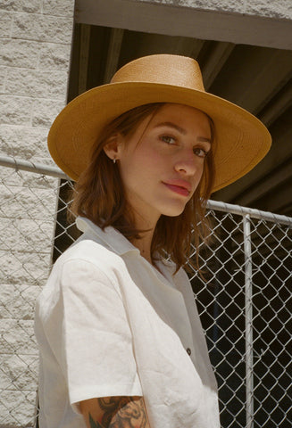 Pinch Panama Hat Ochre