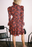 Prairie Dress Red Grape Print