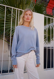 The College Sweatshirt Pale Blue
