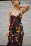 Long Slip Dress Flame