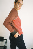 Colorblock Pullover Rust