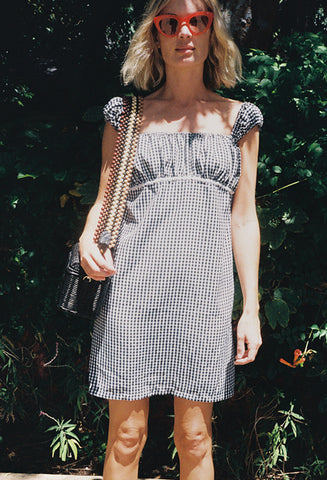 Cap Sleeve Dress Gingham