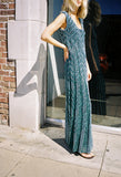 Knit Maxi Dress Blue