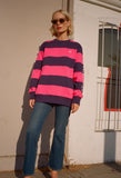 Catalina Striped Crew Fleece