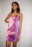 Lame Slip Dress Lilac