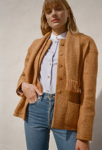 Chanel Rust Blazer with Scarf