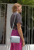 Double Zip Crossbody Grey Blue